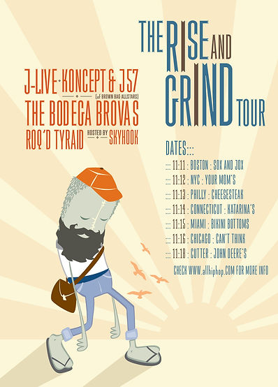 RISE AND GRIND TOUR POSTER