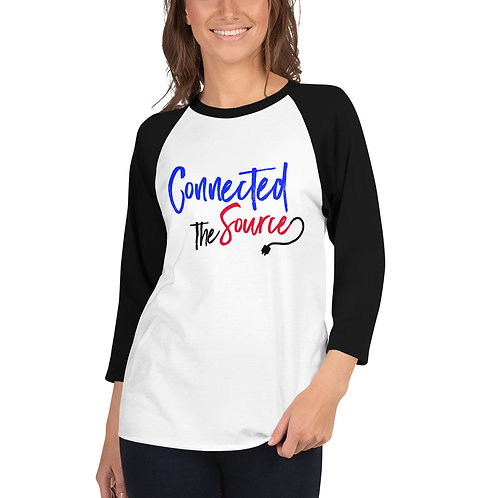 Connected 3/4 sleeve raglan shirt