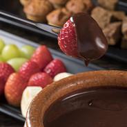 Fondue de Frutas e Chocolate