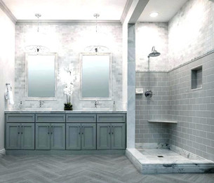 Bathroom in white colors