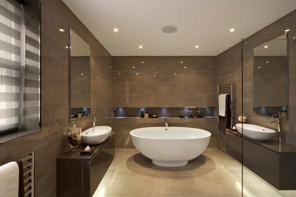 Bathroom in a big space