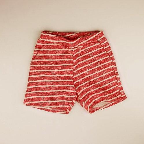 Korte broek Tommie rood gestreept (104 en 110)