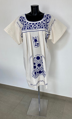 Robe XL Marieta Unie bleue