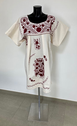 Robe XL Marieta Unie grenat n°2