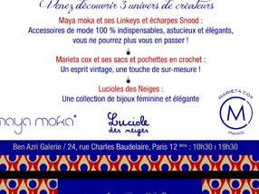 Boutique éphémère MARIETA COX du 7 au 9 novembre, 24 rue Charles Baudelaire - 75012 Paris