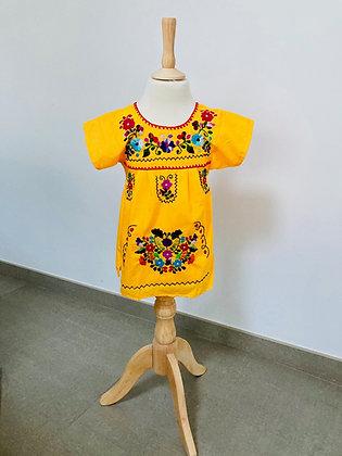 Robe Victoria 2 ans jaune