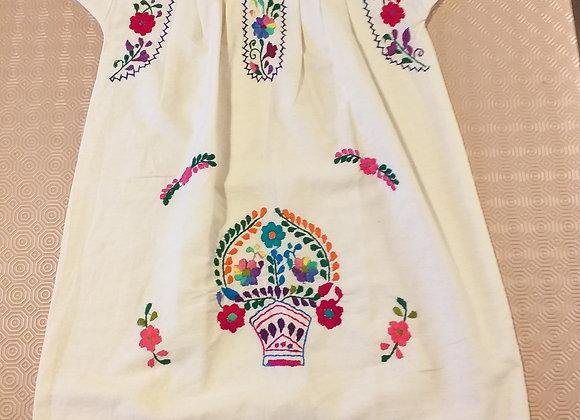 Robe Puebla mauve 8-10 ans