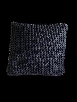 Grand coussin carré noir