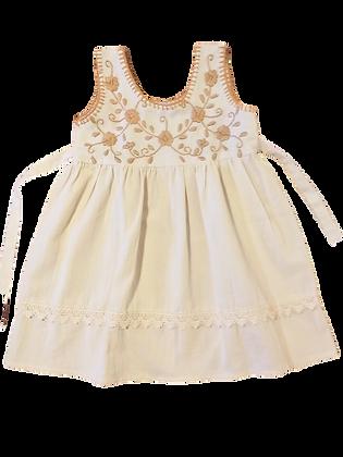 Robe Alicia 1 an fleurs beige