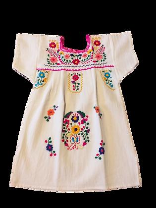 Robe Marieta 1 an col fuchsia