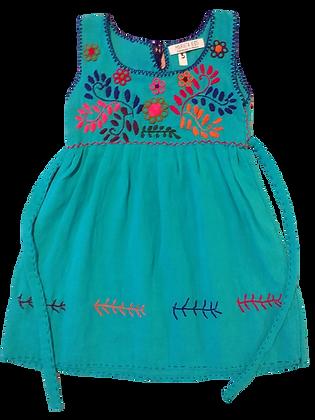 Robe Alicia 2 ans turquoise