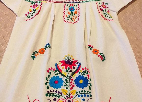 Robe Puebla arc-en-ciel 6-7 ans