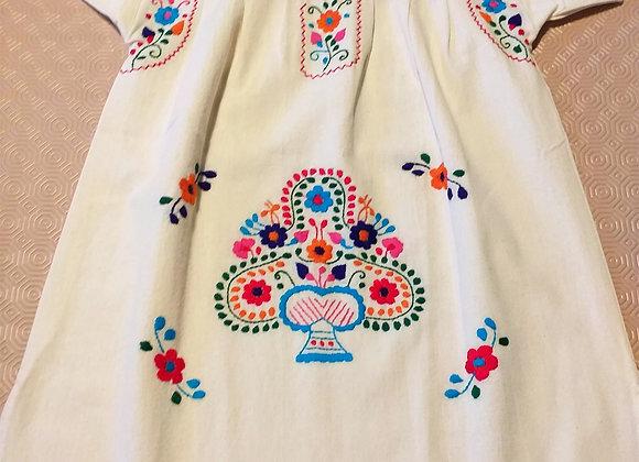 Robe Puebla bordeaux 3-4 ans