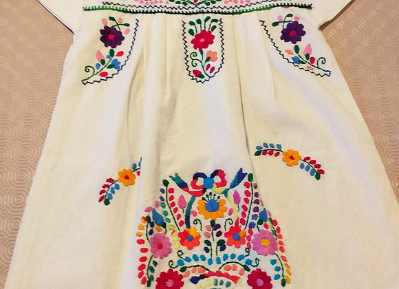 Robe Puebla verte 6-7 ans