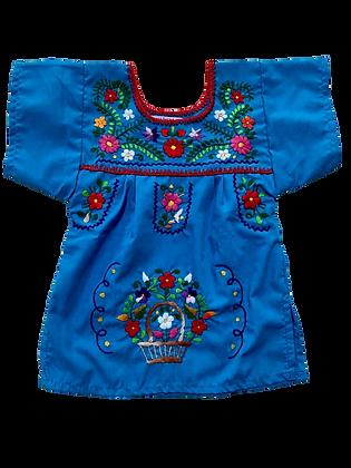 Robe Victoria 1 an bleu