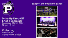 Phantom Band Shoe Fundraiser March 2021