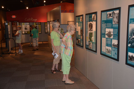Glenn Miller Museum visitors enjoying