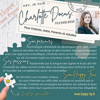 Charlotte DOCUS - Happy Haut Potentiel