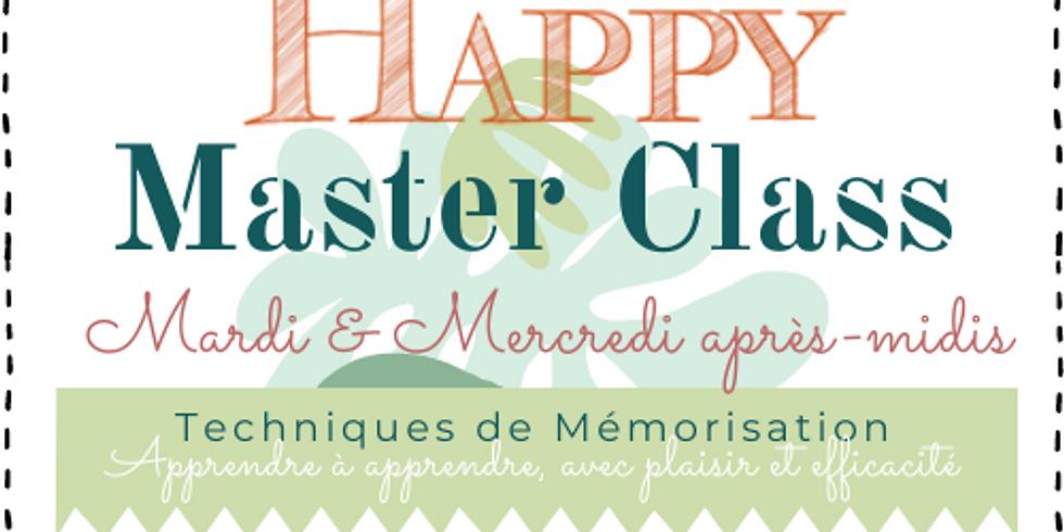 Happy Master Class : Techniques de mémorisation