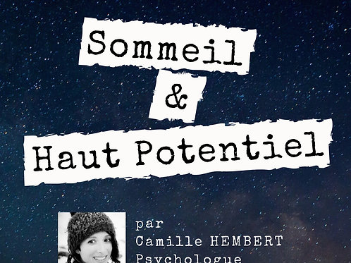 """Replay WebConférence """"Sommeil & HP"""""""