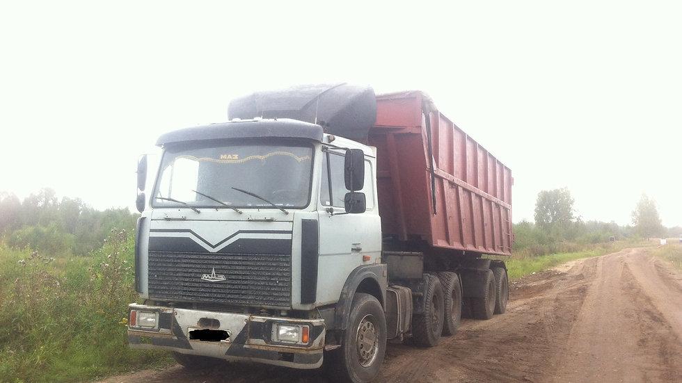 МАЗ 622208 (объем грунт-30м3, торф-40м3)