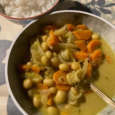 Curry de cocos au lait de coco