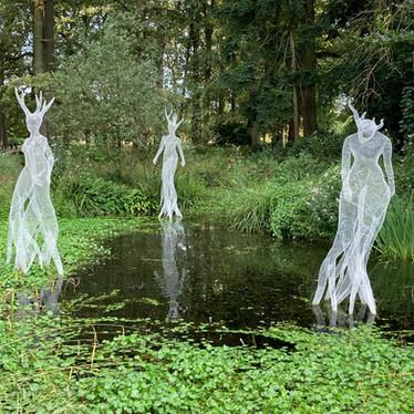 Les sculptures de Daniela Capaccioli au Parc Floral