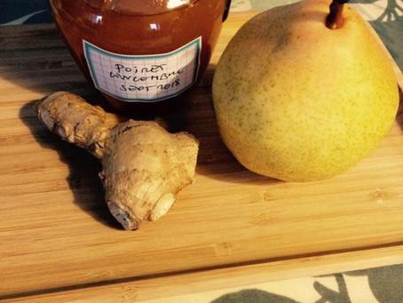 Confiture de poire gingembre