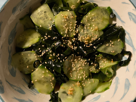 Salade japonaise de concombre et wakamé
