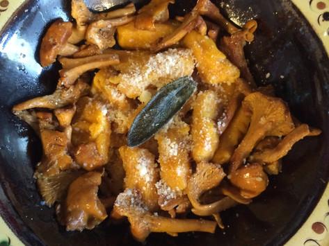 Gnocchis au potimarron, poêlée de girolles, au beurre de sauge