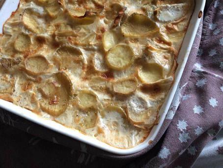 Gratin dauphinois aux pommes et poires de terre