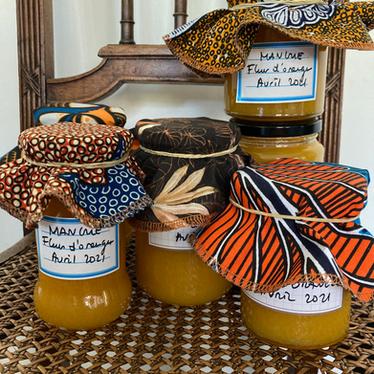 Confiture de mangue à la fleur d'oranger