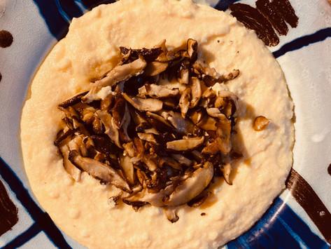 Polenta crémeuse aux champignons Shiitaké