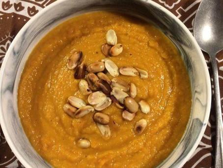 Soupe panais, carottes, cacahuètes