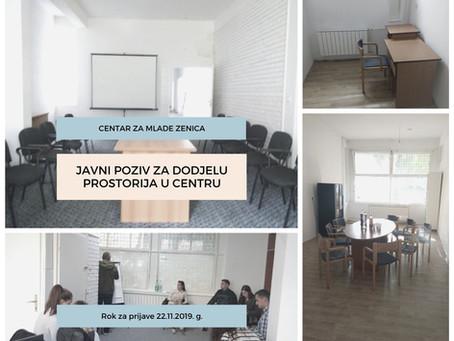 Prijavi se za korištenje prostora u Centru za mlade Zenica