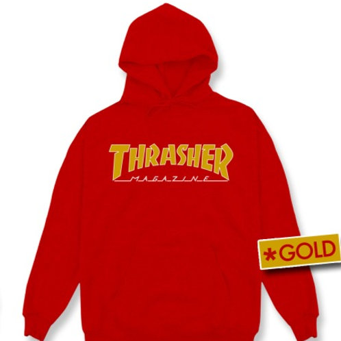 HOODIE OUTLINED GOLD THRASHER