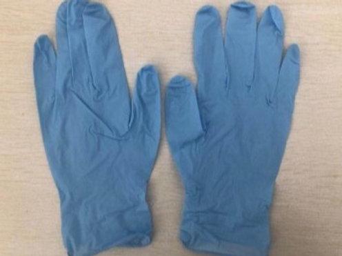 D&W Blue Nitrile Gloves