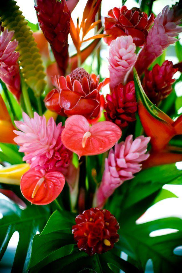Flowers, Maui, baskets, ohana