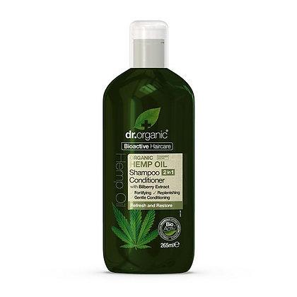 Dr. Organic Olio di Canapa 2in1 Shampoo e Balsamo - 265ml