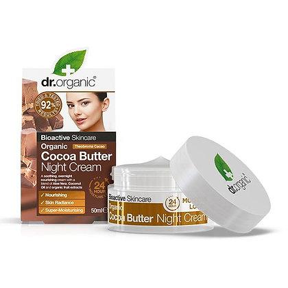 Dr. Organic Burro di Cacao Crema Notte -50ml
