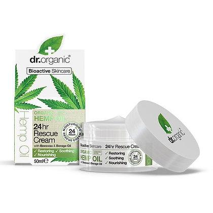 Dr. Organic Olio di Canapa Crema Riparatrice 24h - 50ml