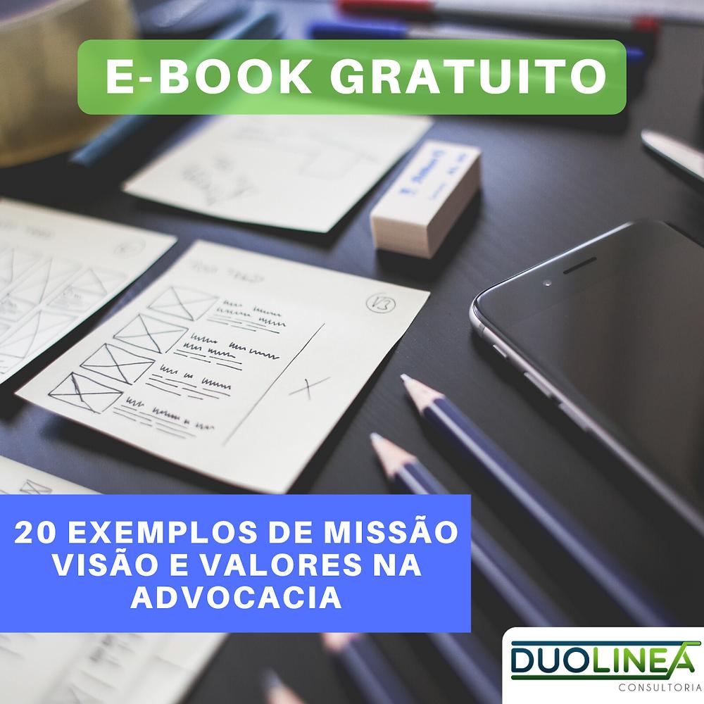 E-book MIssão, Visão e Valores na Advocacia