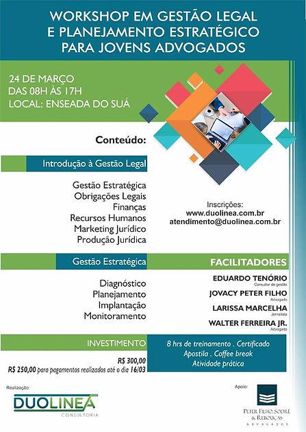Workshop Gestão Legal e Planejamento Estratégico para jovens advogados