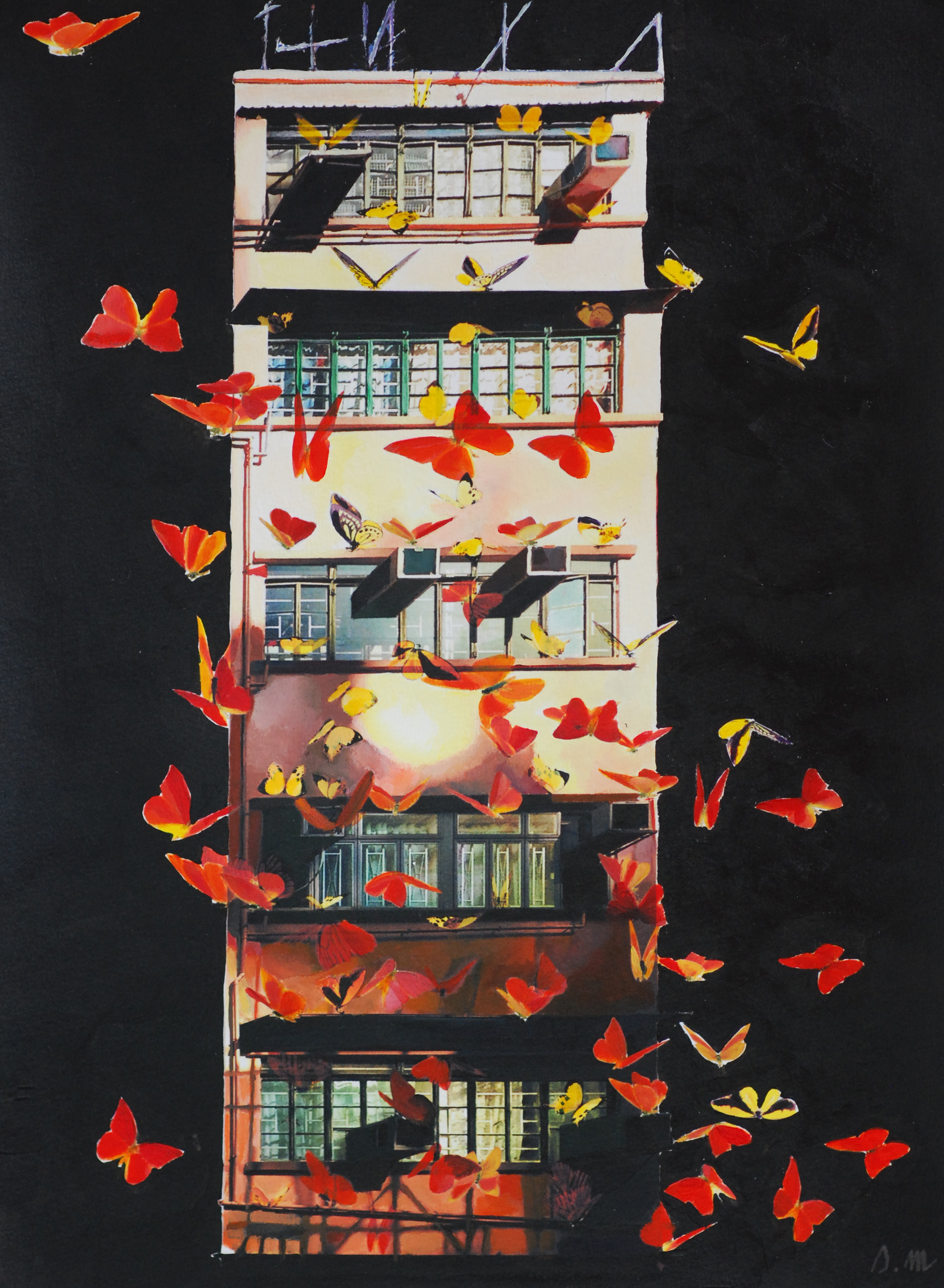 Wanchai Butterfly #Red - 2015 (SOLD)