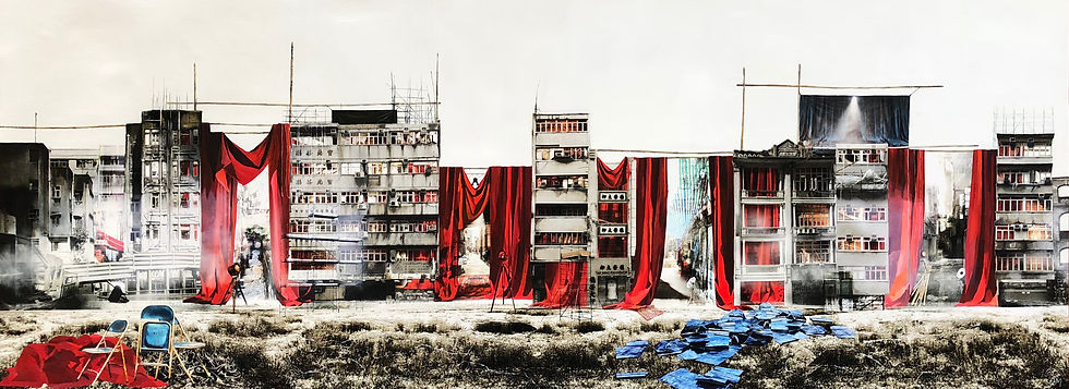 Back Alleys Backstage Mixed Mixed Media on Paper 51 x 140 cm