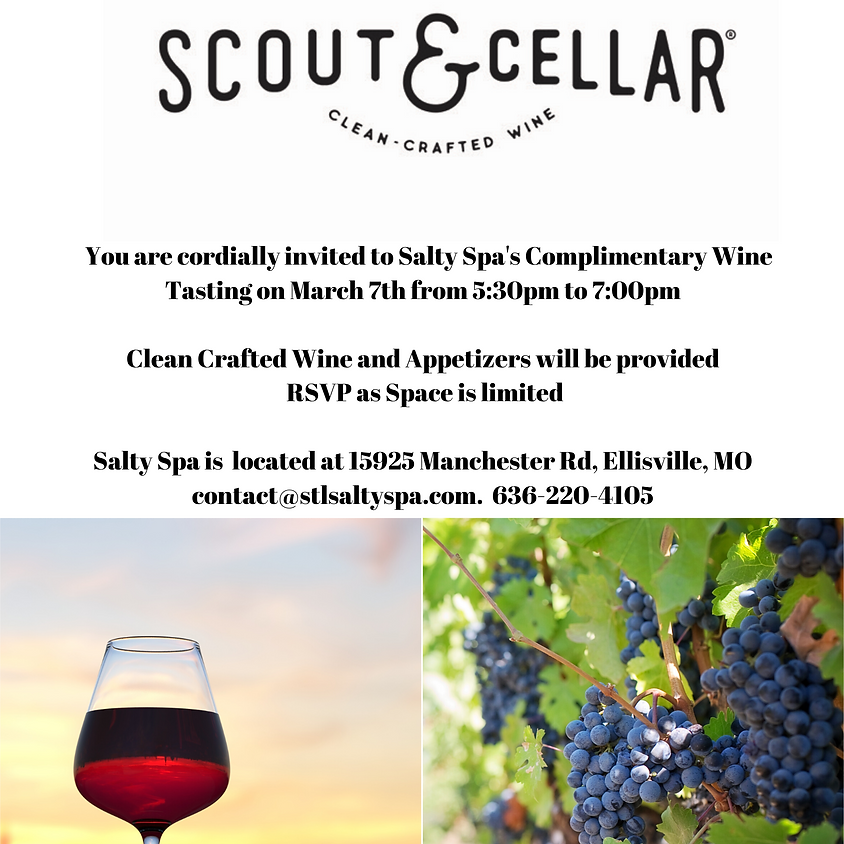 Complimentary Wine Tasting on March 7th at 5.30 pm