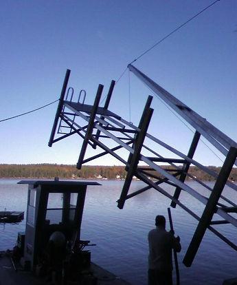 Dock in Lake Winnipesaukee