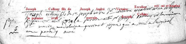 """""""JOSEPH II CELLONY"""""""