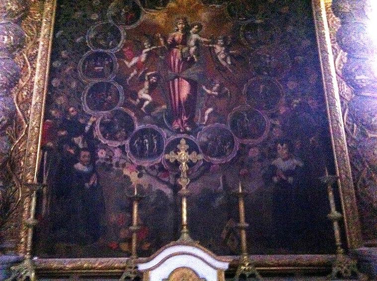 Tableau François Valisset chapelle du Rosaire Esparron de Pallières