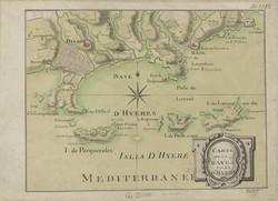 Carte de la baie et îles d'Hyères